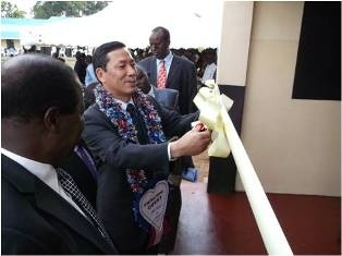 Ribbon-cutting by Amb. Takata