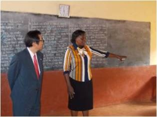 Observation of the classrooms: Mr. Mori with the Head teacher, Ms. Janeffer W. Gichore