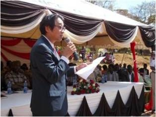 Mr.Mori speaking at the function