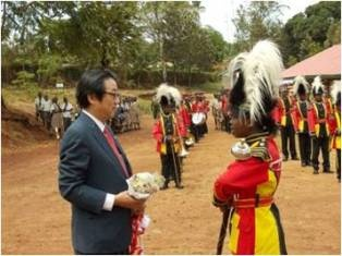 Murang'a Marching Band welcomes Mr. Mori