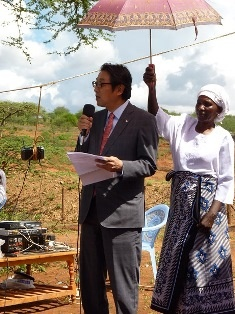 Mr Mikio Mori, Deputy Ambassador of Japan to Kenya while giving his speech