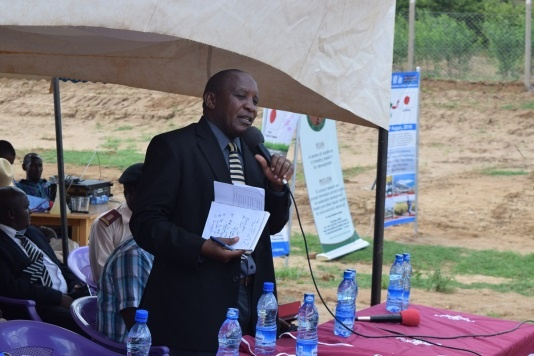 Speech by Mr. Jacob Mutua, Kitui County Chief Officer of Agriculture, Water and Irrigation