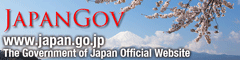 JapanGov image colored in blue and pink